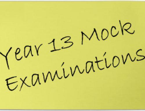 Year 13 Mock Examinations